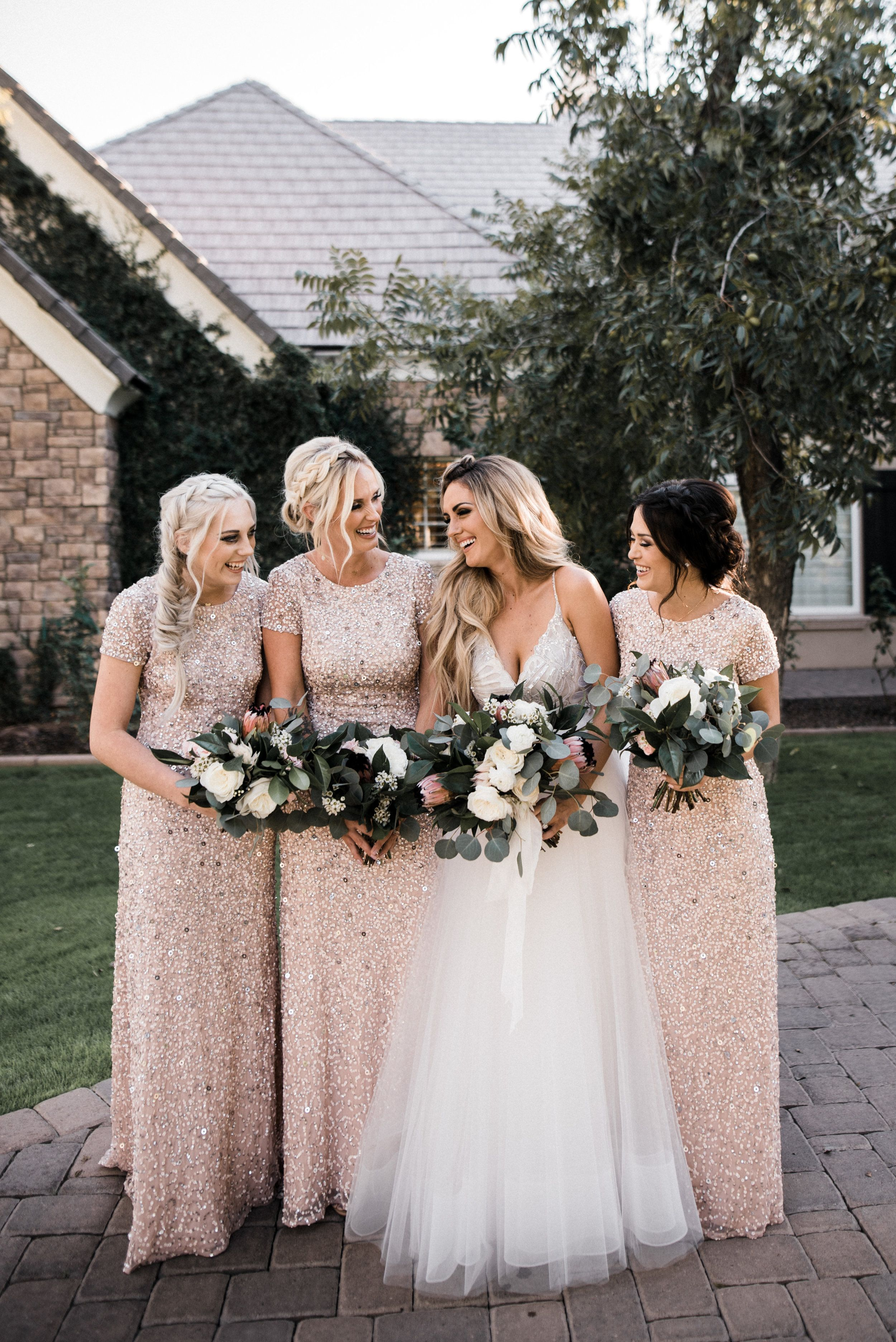 A Champagne And Ivory Wedding Color Palette With Beaded