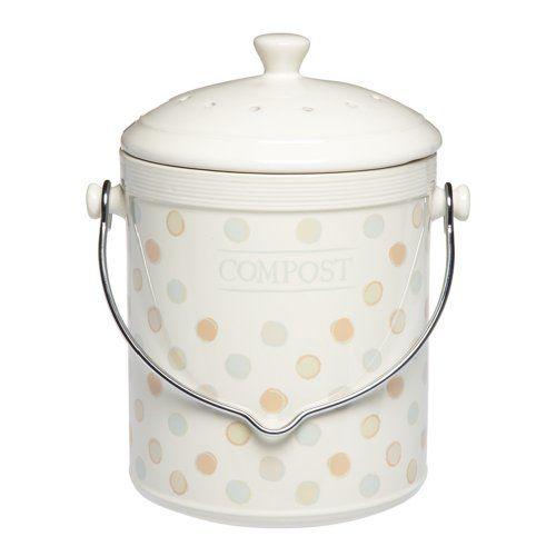 Kitchen Craft Klassik Kollektion Keramik-Komposter mit Kohlefilter - komposteimer für die küche