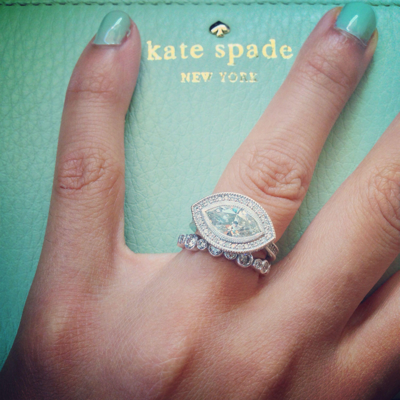 Engagement Ring Wedding Band Kate Spade Bands Rings