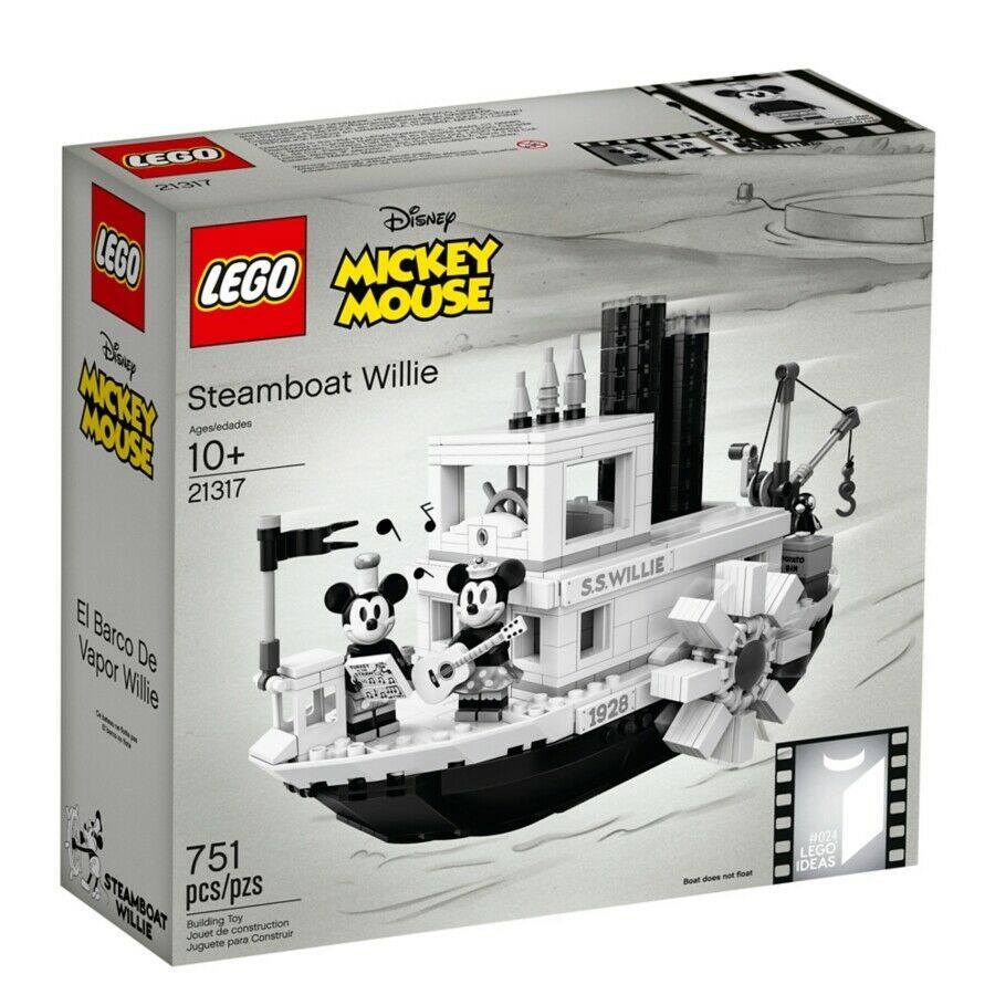 Details About Lego Mickey Mouse 21317 Steamboat Willie 90 Years Ideas 2019 New Official Sealed Mickey Mouse Steamboat Willie Steamboat Willie Lego Sets