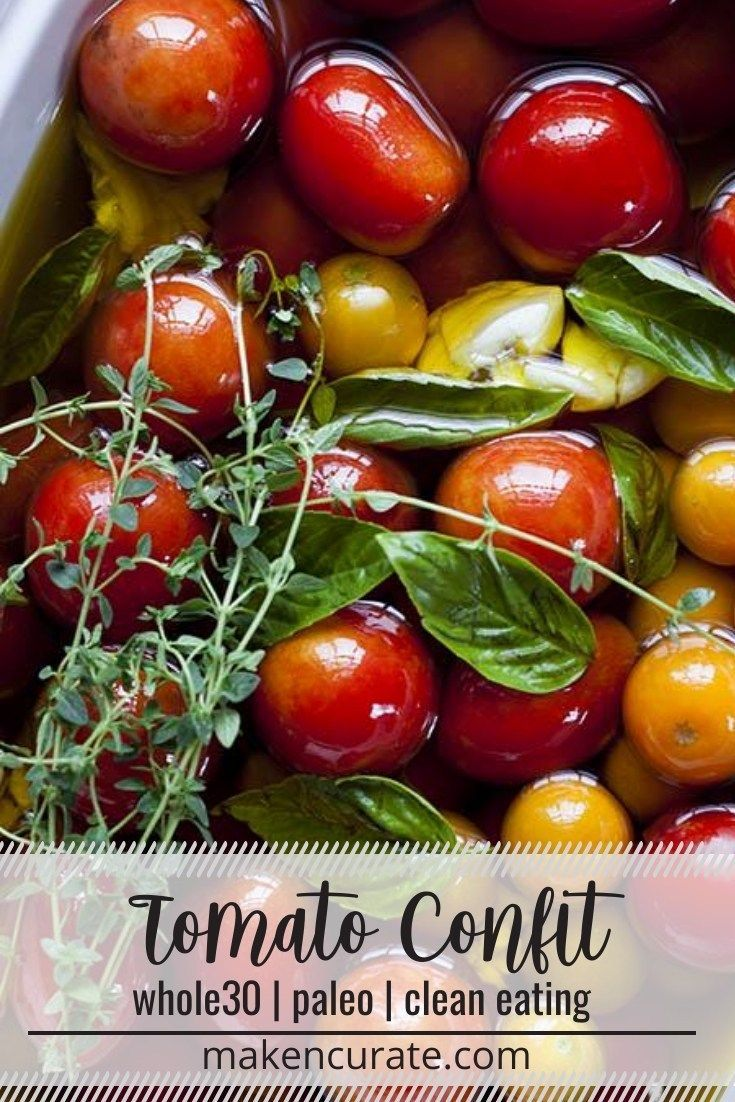 This lovely treatment of tomato confit is super ve