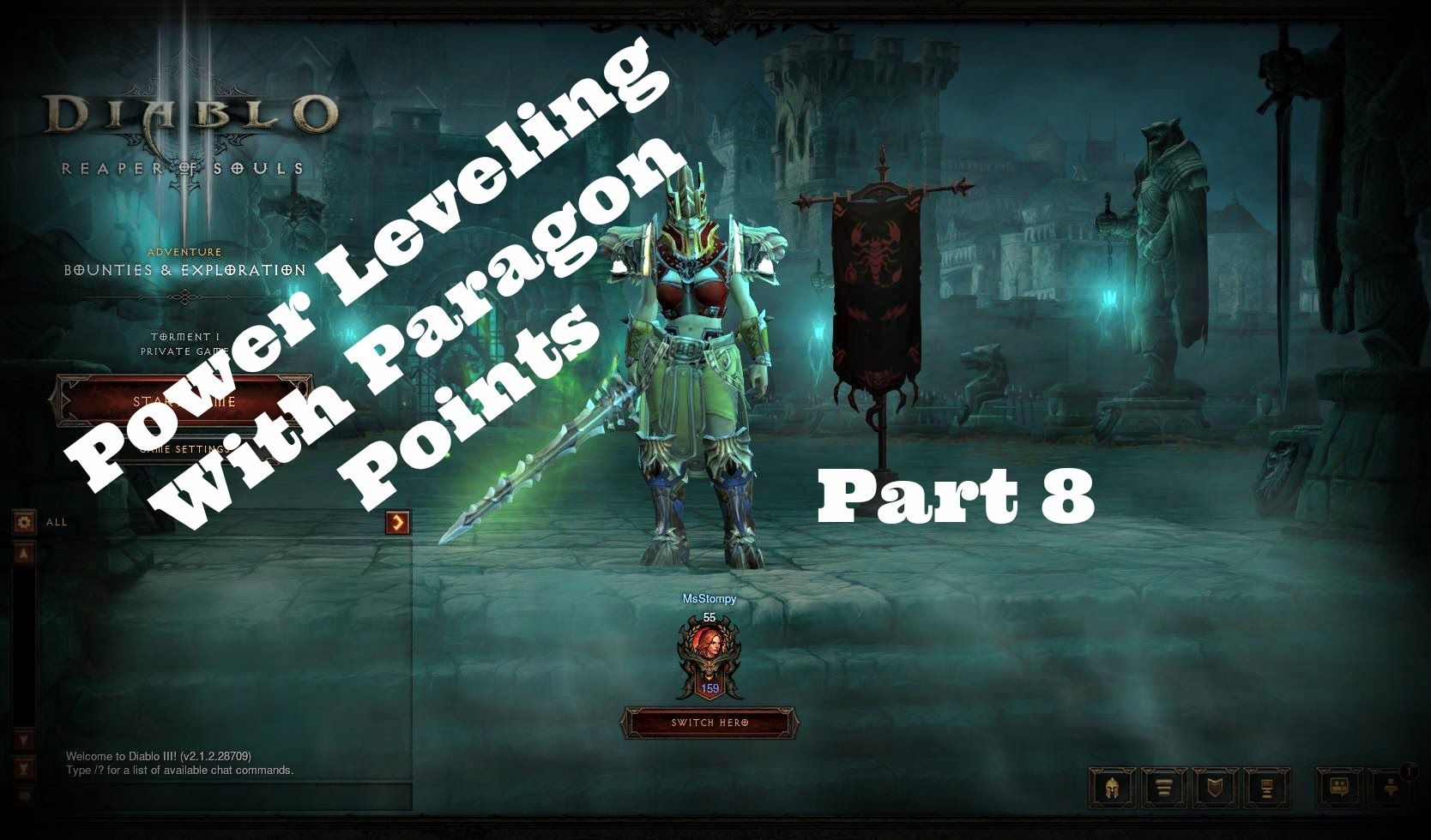 Diablo 3 Ros Power Leveling With Paragon Points Pt8 Barb Walkthrough Diablo 3 Diablo Paragon