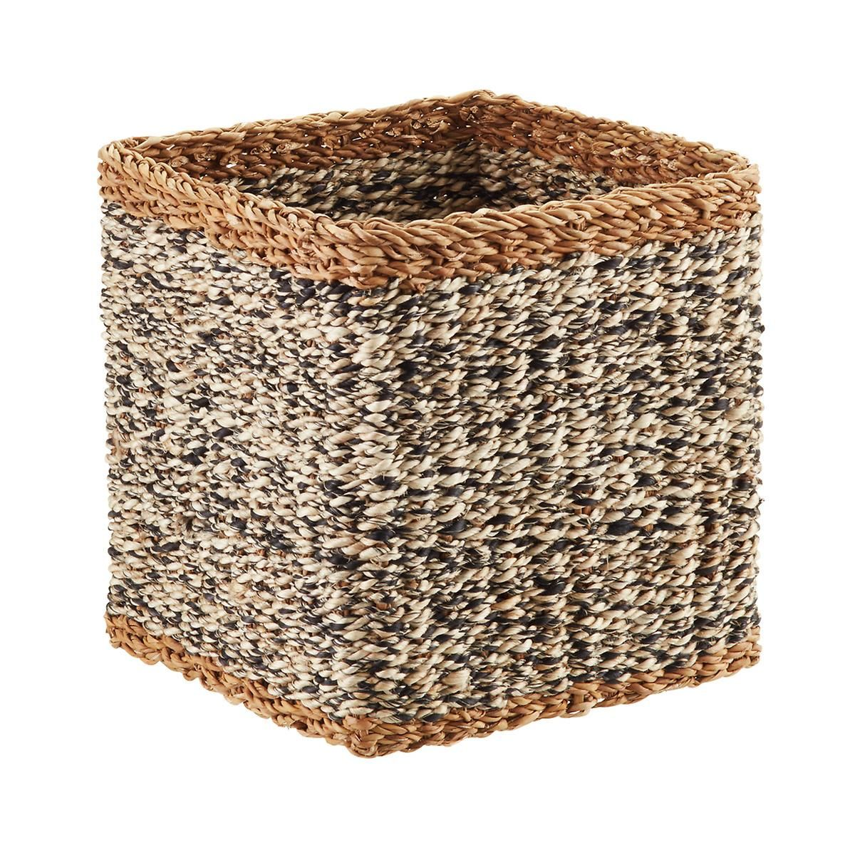 White U0026 Black Napa Woven Storage Cube