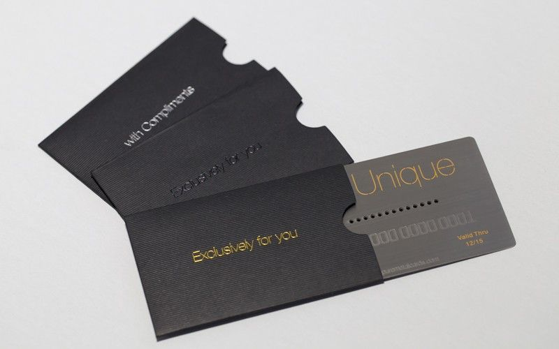 Compliment Your Metal Card With Luxury Card Sleeves Luxury Card Gift Card Design Cards