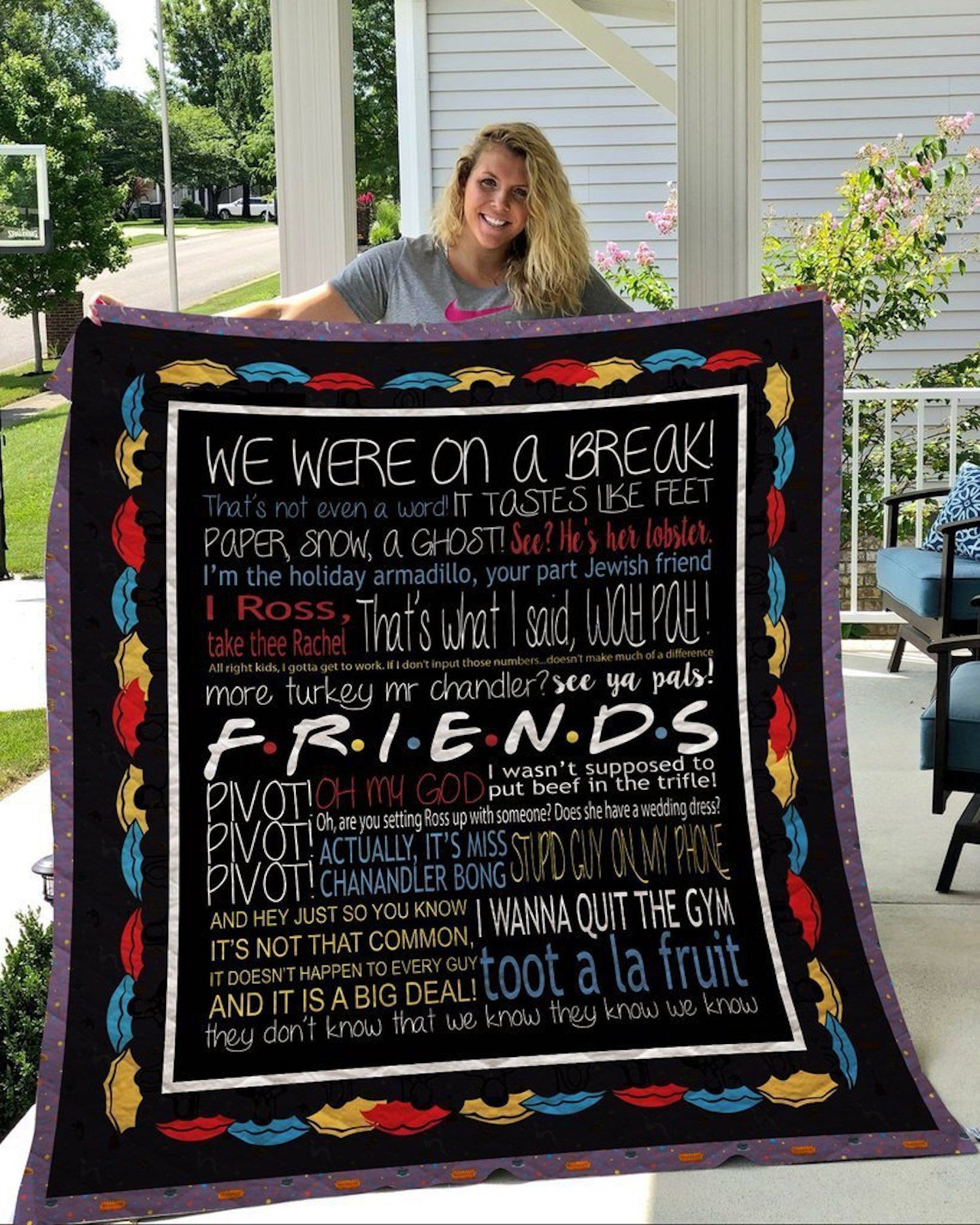 To My Gorgeous Girl Friend I Love You The Most Quilt Blanket