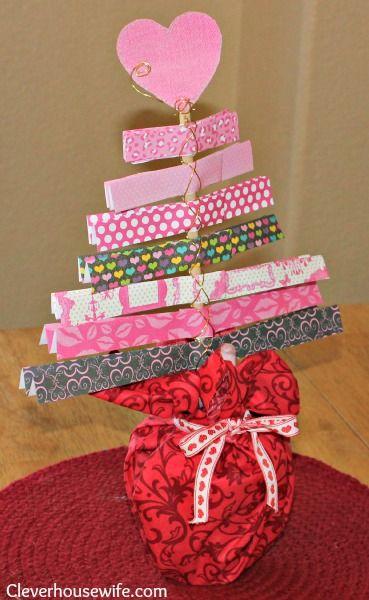 Valentine\'s Day Tree Craft | Tree crafts, Crafts and Holidays