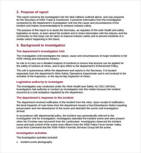Workplace Investigation Report Template (8) TEMPLATES