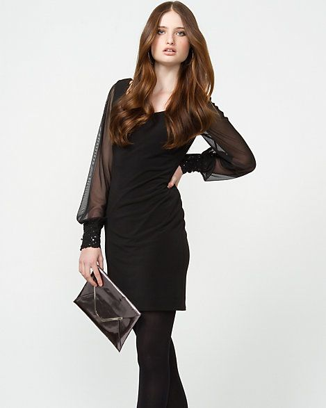 Le Château: Matte Jersey Cocktail Dress