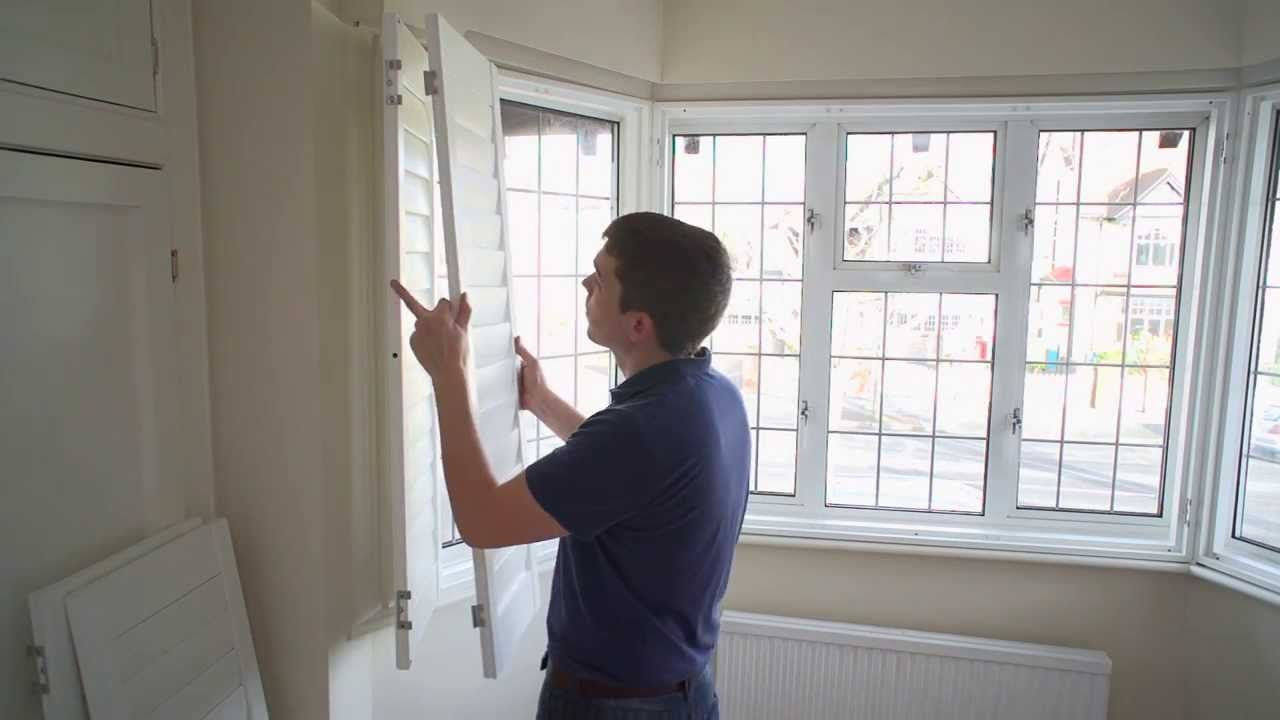 How To Install A 3 Section Angled Bay Window Shutter