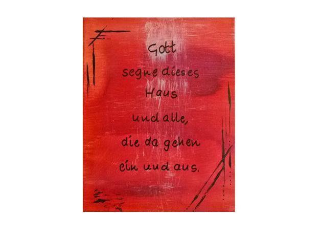 Bild acrylbild mit spruch gott segne dieses haus kunst in 24 x 30 x 3 6 cm acrylbild - Leinwandbild mit spruch ...