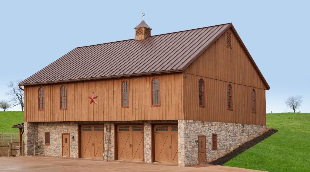 Ephrata Pa Bank Barn Stable Hollow Construction In 2020 Barn House Plans Bank Barn Barn Builders