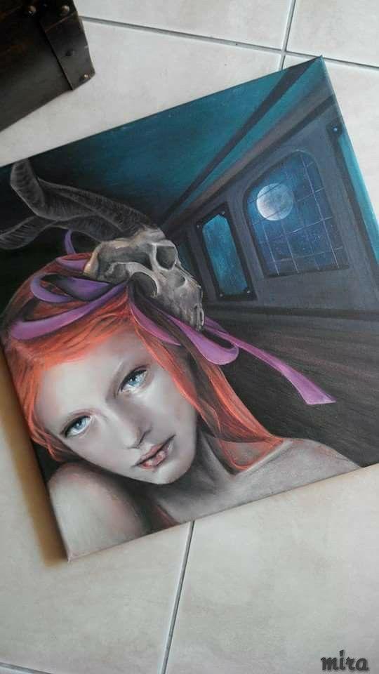 Goat girl/ Acrylic paint / canvas
