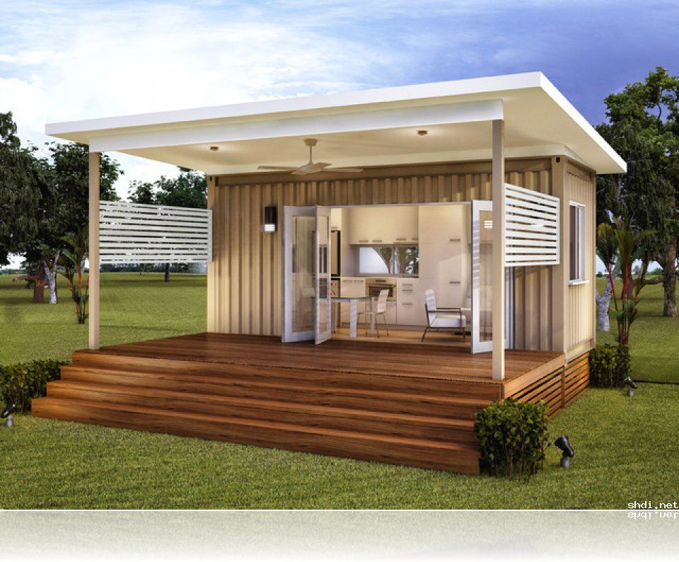 Granny flats prefab container home house renovation for Backyard cabins granny flats