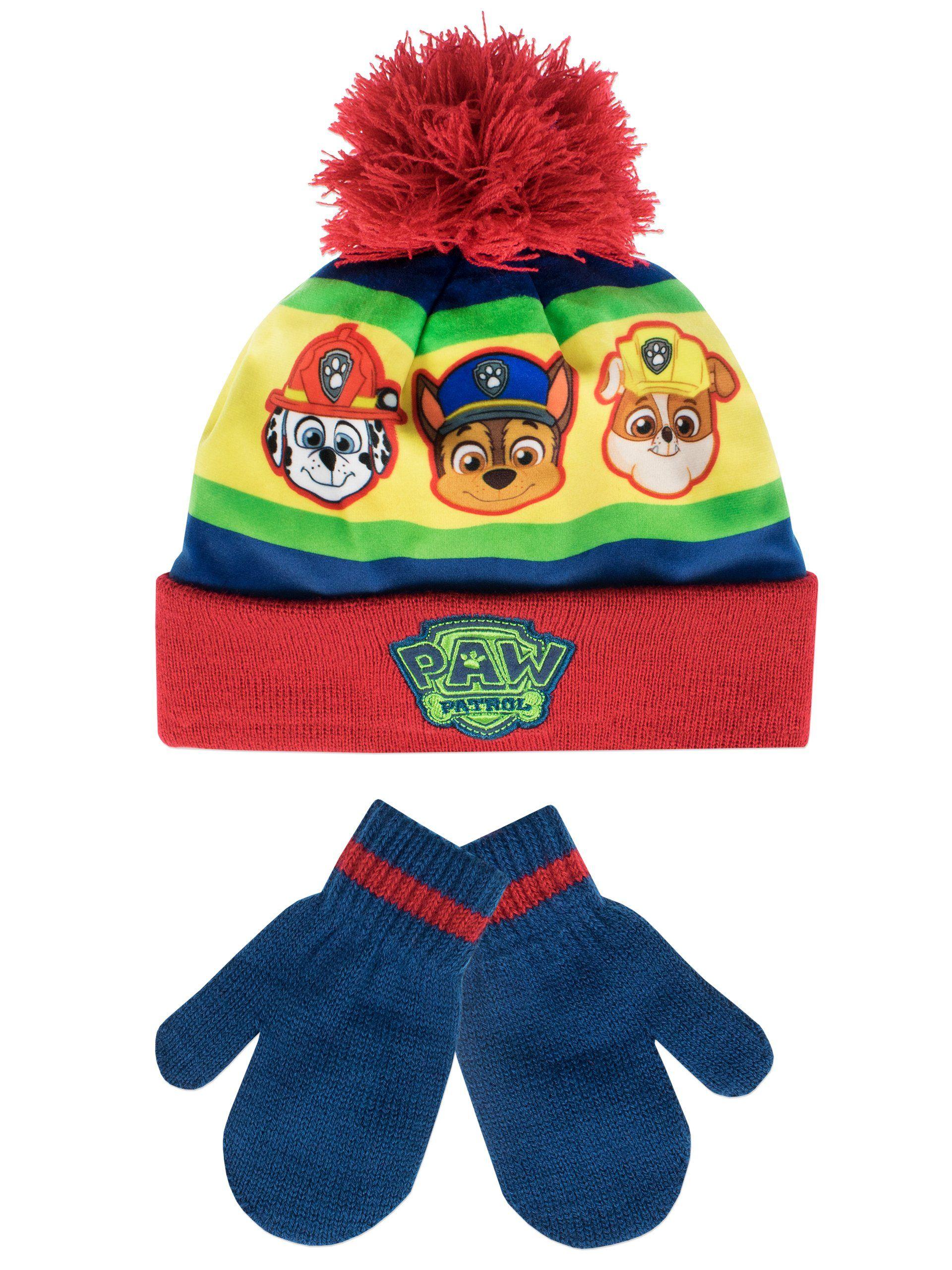 Boys Kids Paw Patrol Winter Hat And Gloves Set