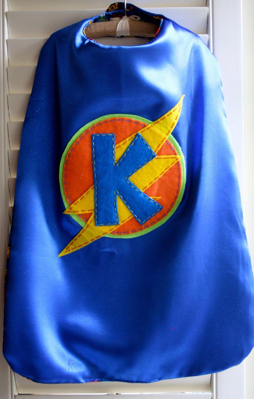 Superhero Costume -PERSONALIZED Boys Superhero Cape - Choose