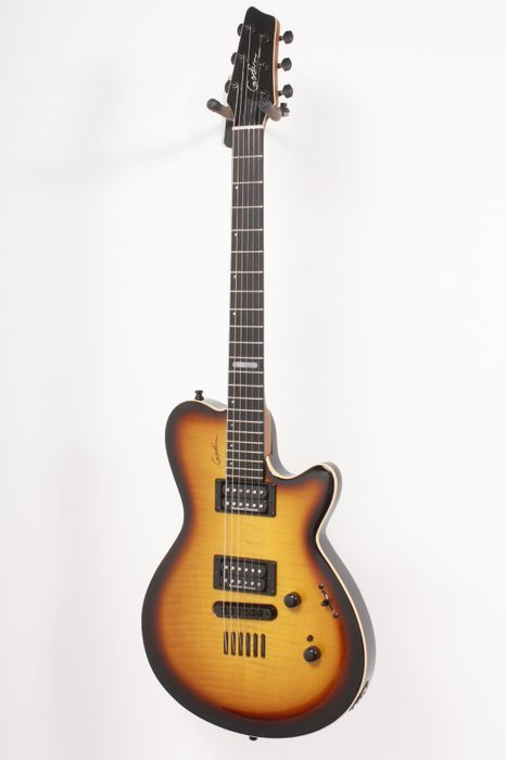 Click Image Above To Buy: Used Godin Summit Ct Electric Guitar Sunburst Flame 886830685156