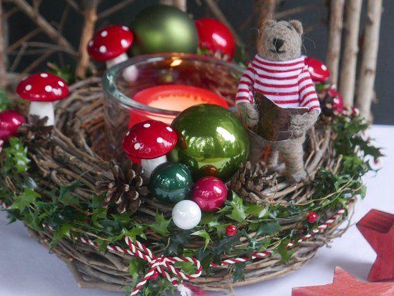 adventskranz 28 etsy weihnachtsdeko weihnachtlicher. Black Bedroom Furniture Sets. Home Design Ideas