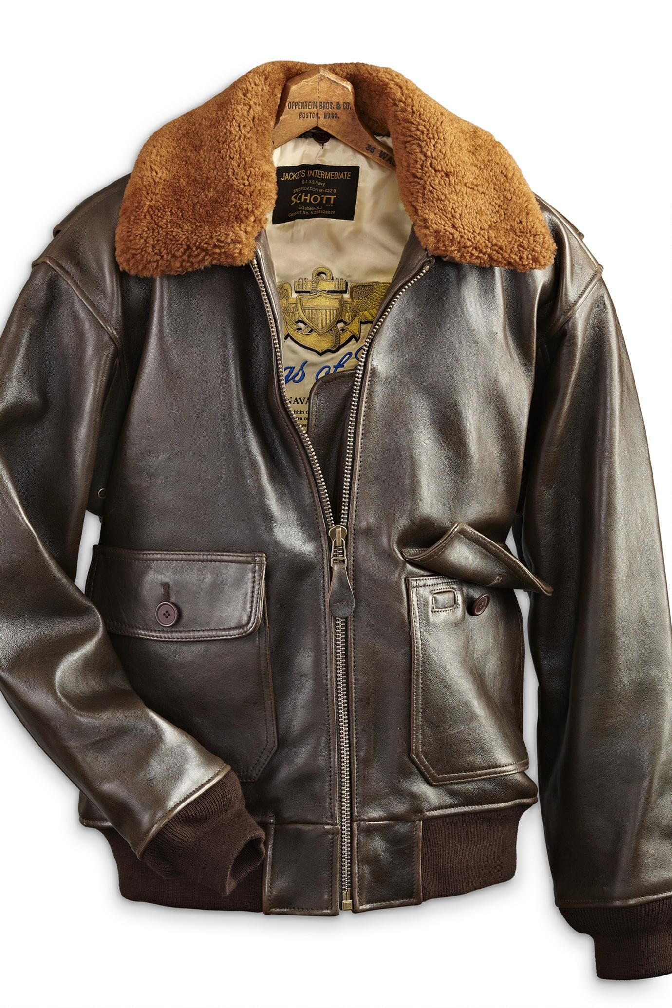 7932dc5c774 Schott G1S Lambskin Jacket with Sheepskin Collar
