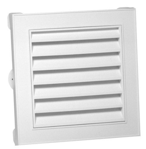 Duraflo 626043 00 12 Inch Square Gable Vent White Drip Channel The Square Decorative Gabel Vent Is Designed With A Mold Gable Vents Gable Roof Design Square