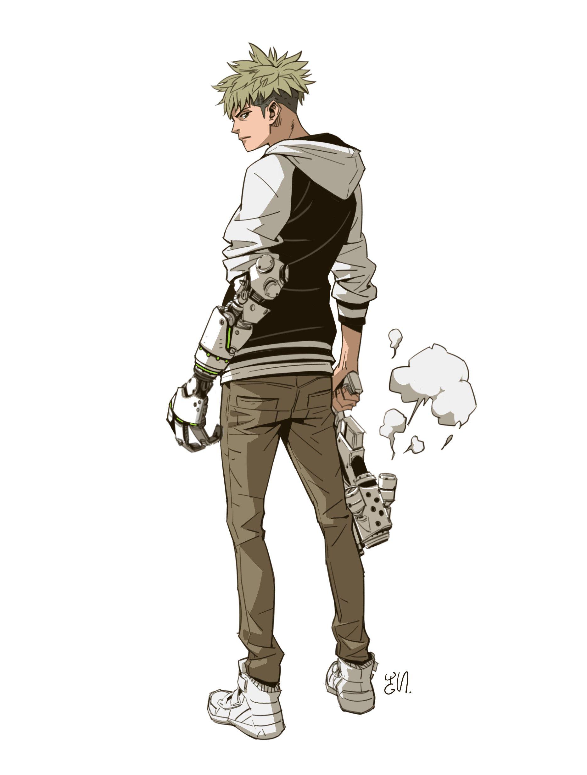 Artstation Gunman Yungun Y Anime Character Design Character Design Inspiration Character Design Male