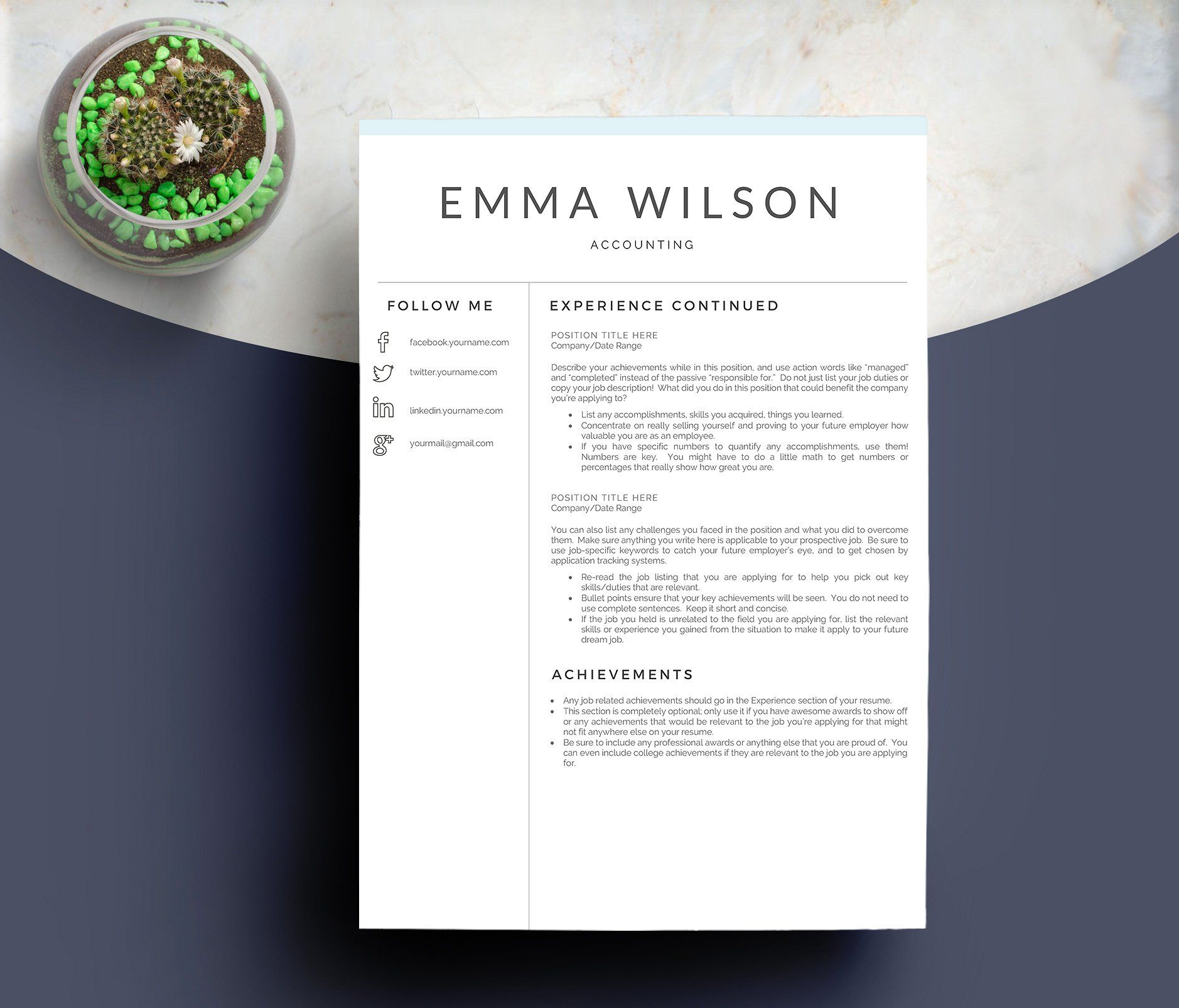 25+ Importance of resume ppt Resume Examples