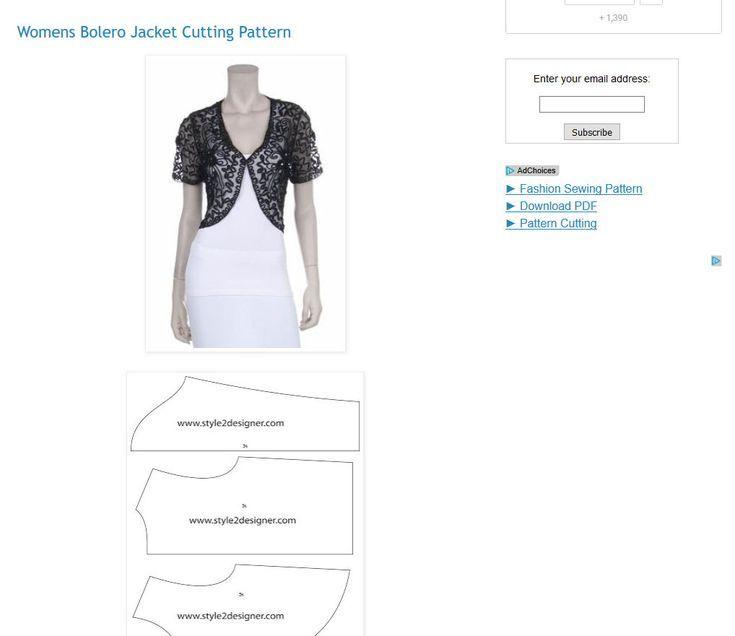 Free Patterns to Sew Boleros and Shrugs | Jackets | Pinterest ...