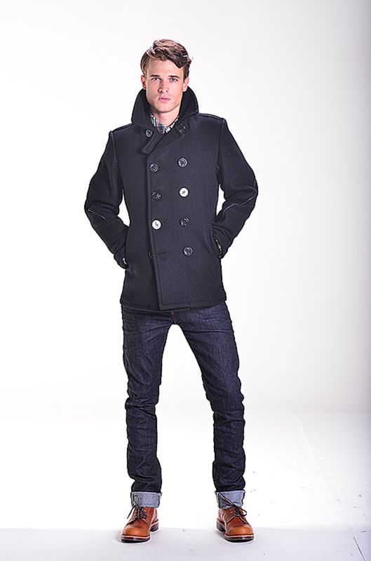 Dsquared2 Wool Peacoat With Military Details Cappotti Uomo