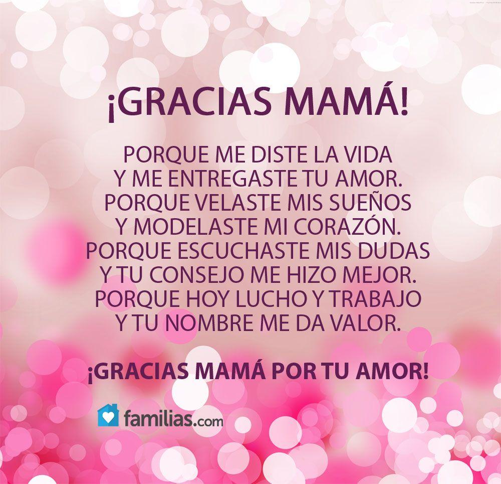 Gracias por todo Mamá | frases | Pinterest | Gracias por todo ...