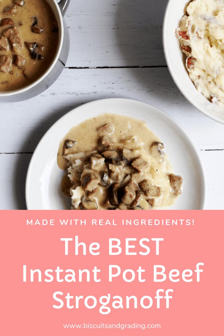 The BEST Instant Pot Beef Stroganoff images