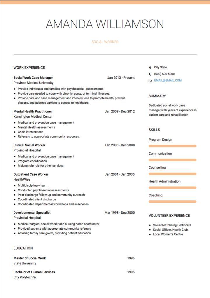 Cv template social work social work cv template resume