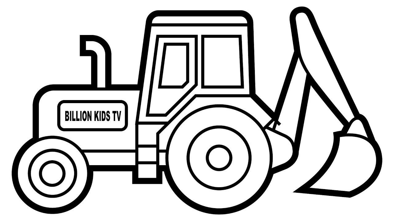 Important Digger Colouring Pages How To Draw Excavator
