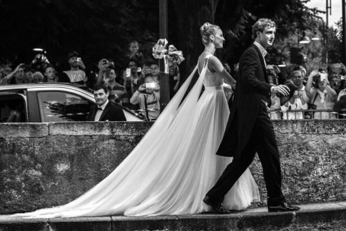 casiraghitrio:  Wedding Reception of Pierre Casiraghi and Beatrice Borromeo, Lake Maggiore, Italy, August 1, 2015-The newlyweds