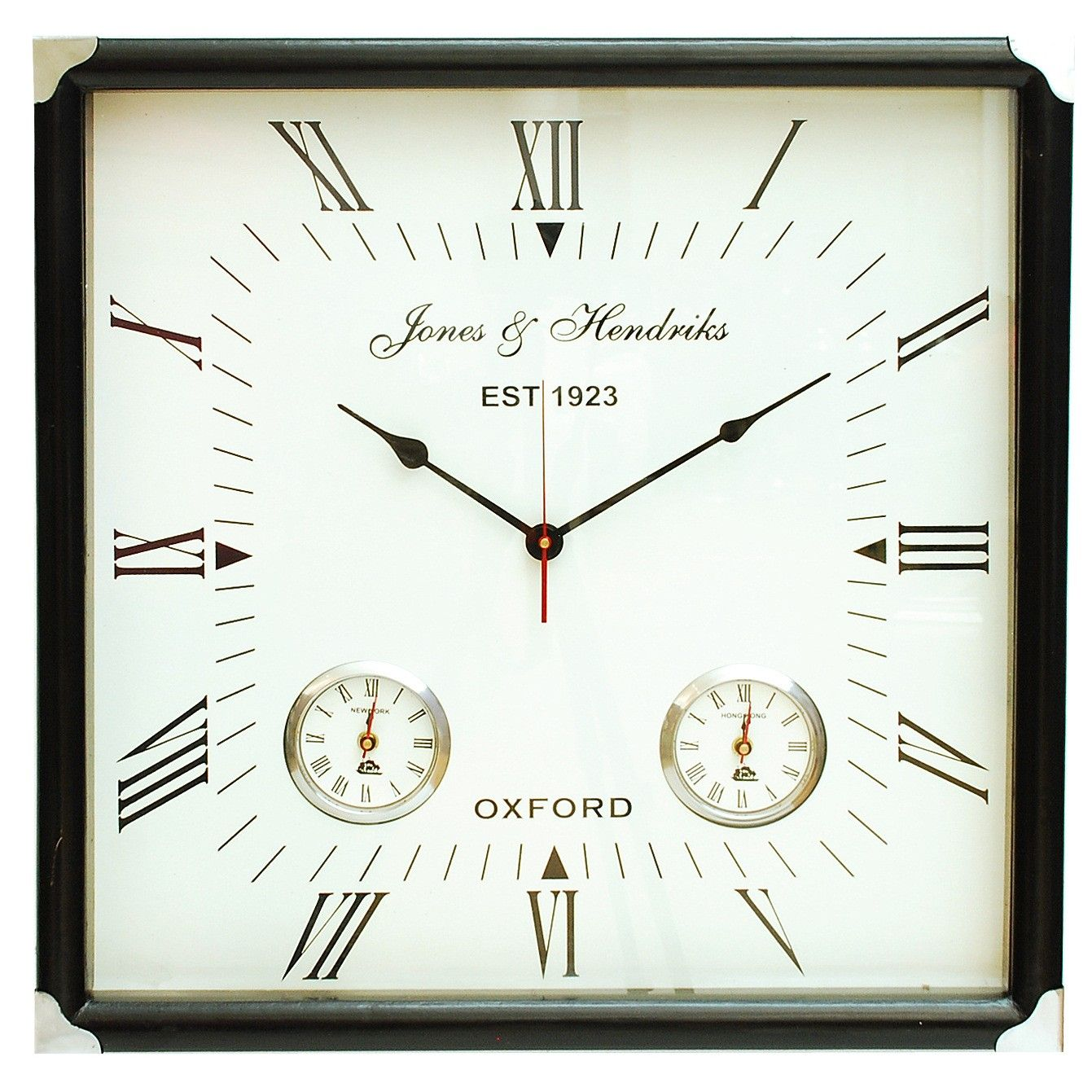 Brooklyn Square Wall Clock This elegant square wall clock with