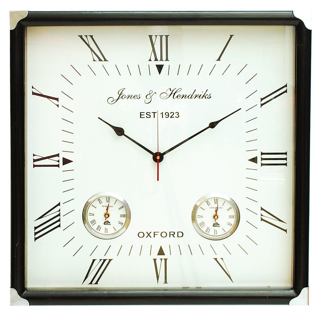 Brooklyn Square Wall Clock This elegant square wall clock ...