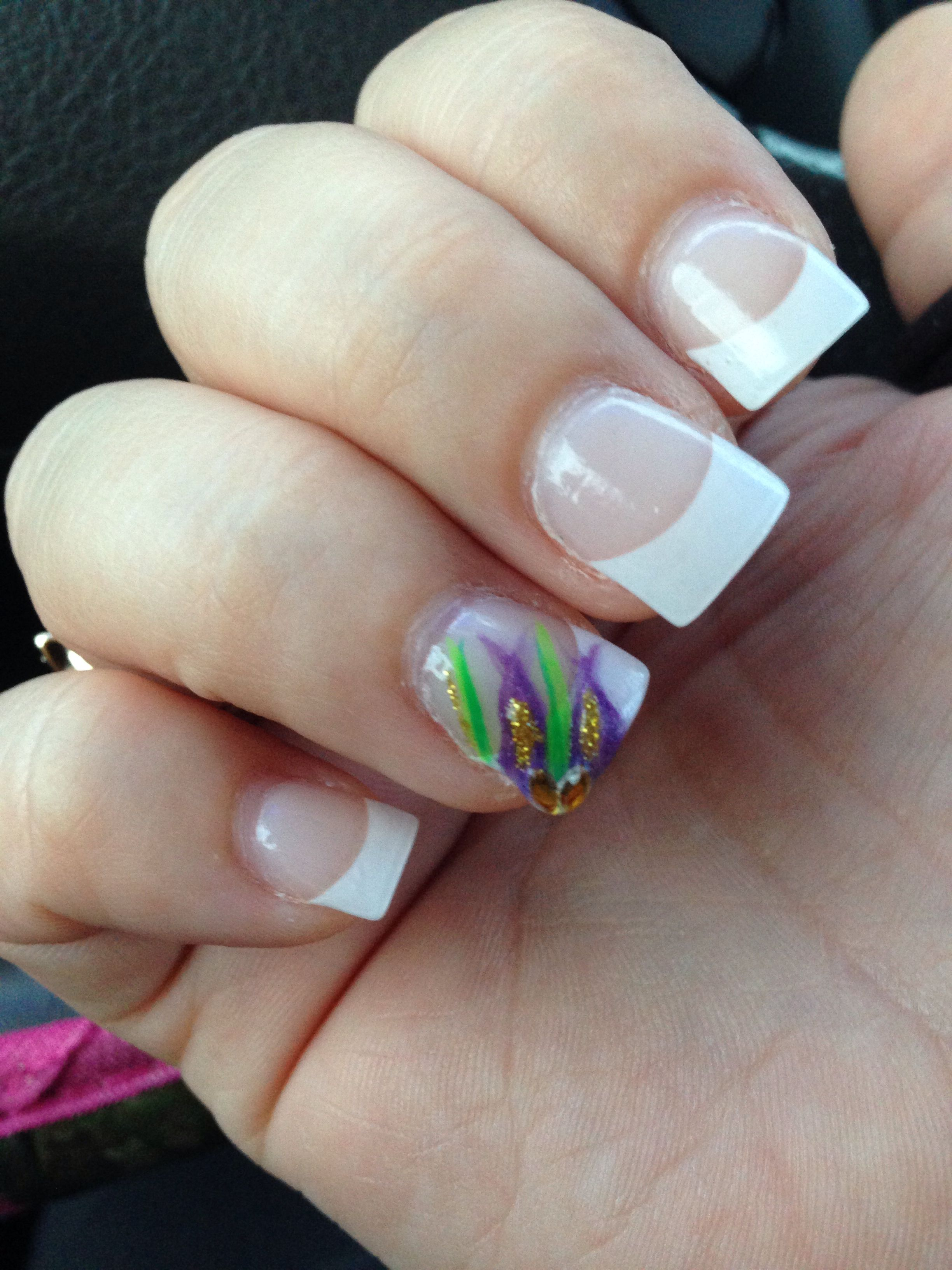 accent mardi gras nails Simple | nails | Pinterest | Mardi gras ...