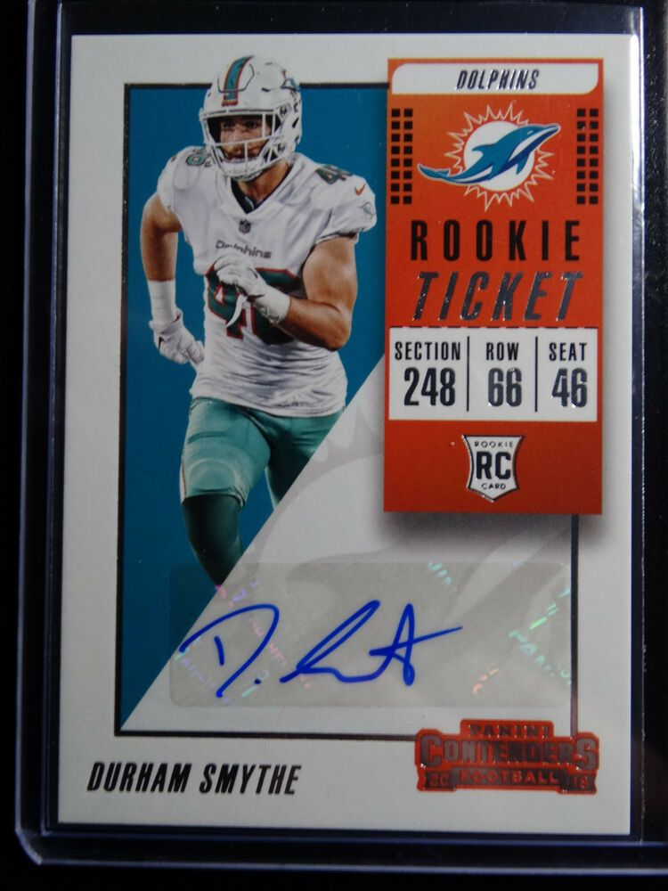 the latest 6f7b3 62cd8 2018 Contenders #316 Durham Smythe Dolphins Rookie Ticket ...