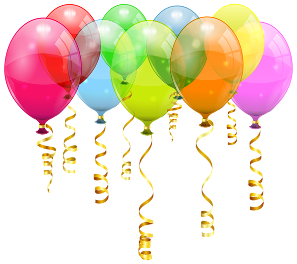 Colorful Balloon Bunch Png Clipart Image Happy Birthday