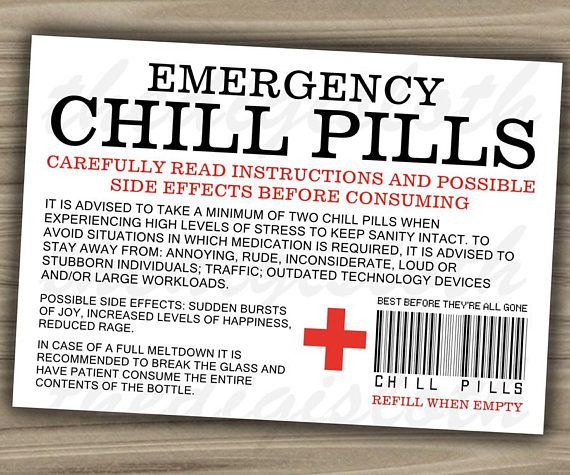 Old Fashioned image regarding chill pill label printable