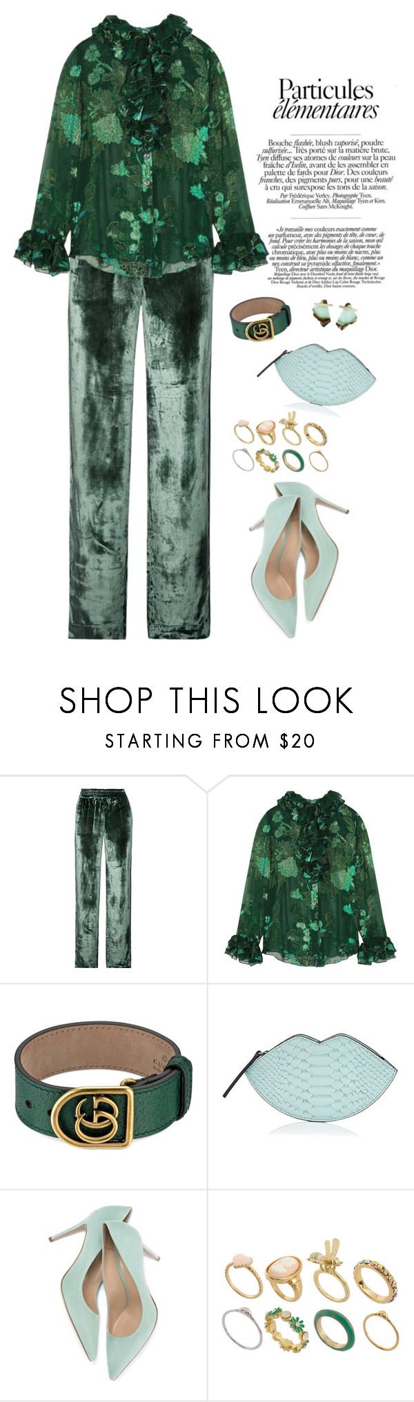 J brand green velvet dress  Earth  Anna sui Shoe bag and Clothing accessories