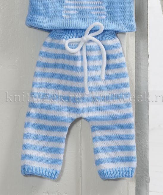 Полосатые штаны для малыша | Вязалочки для детей | Pinterest ...