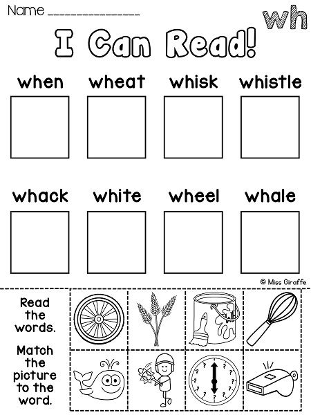 So Many Great Wh Worksheets Centers And Activities That Are All No Prep Great Wh Digraph Practi Digraphs Worksheets Wh Digraph Worksheets Phonics Worksheets