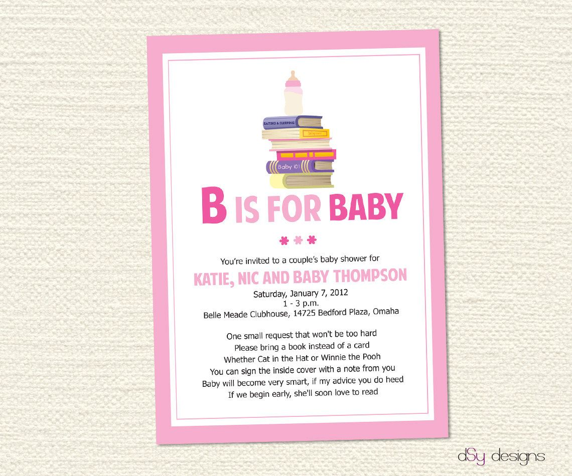 baby shower book invites - Google Search | S/W ideas | Pinterest ...