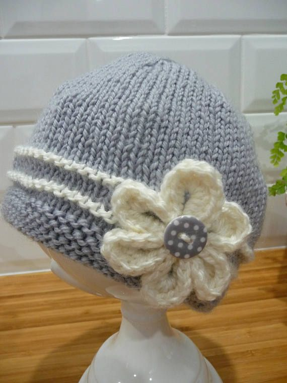 This Is A Beautiful Hand Knitted Hat For A Baby Of 3 To 6 Months