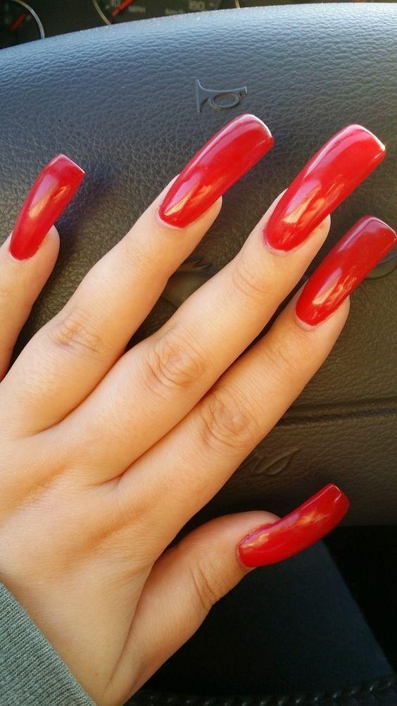 Red Long Nails Long Nails Long Red Nails Red Nails