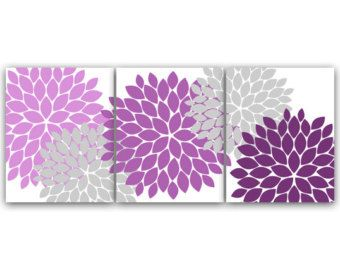 Lavender Wall Art flower burst wall art, bathroom art, instant download, printable