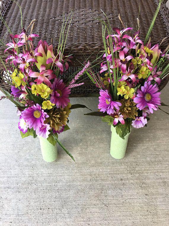 Cemetery Flowersmemorial Flowerscemetery Vase Insertcemetery Vase