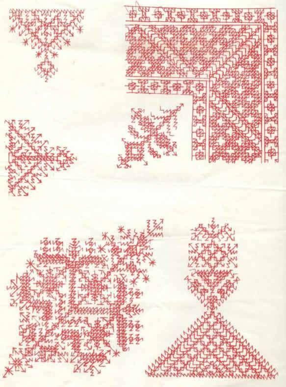 Patrones para bordar en punto marroquí | Patrones para bordar ...