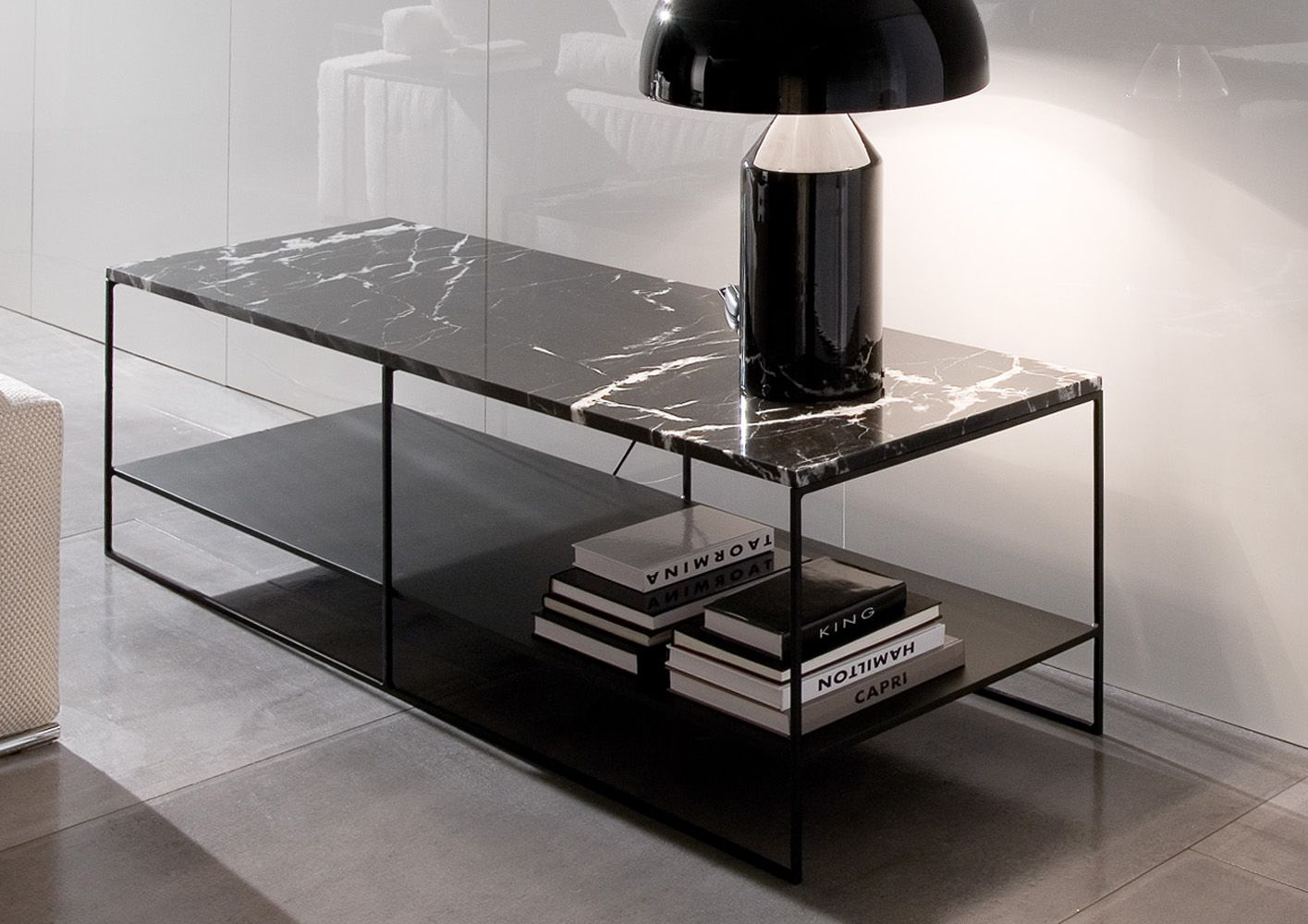 calder marble coffee table minotti designed by rodolfo. Black Bedroom Furniture Sets. Home Design Ideas