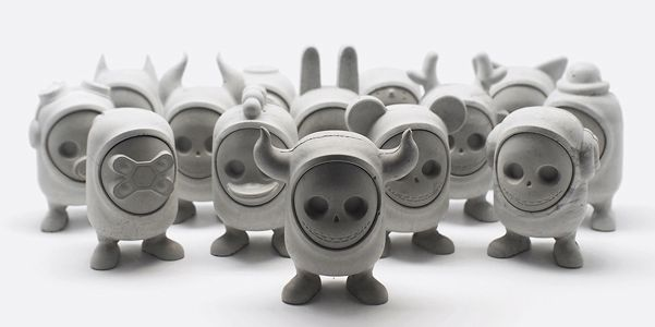 United Monsters, art toys in cemento