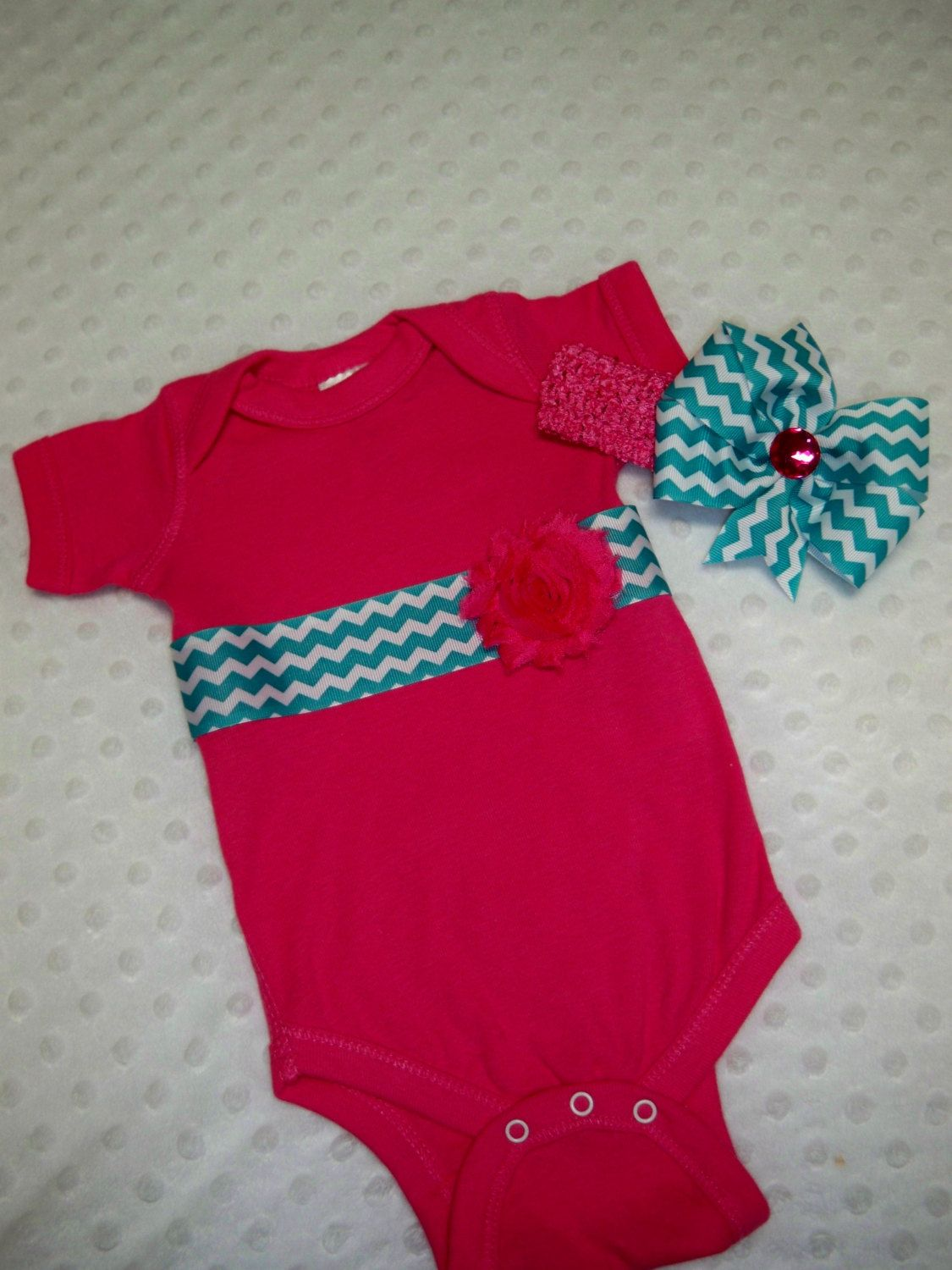 Hot+Pink+and+Teal+Chevron+Baby+Girl+by+grinsandgigglesbaby1,+$17.99